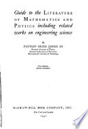 Guide to the Literature of Mathematics and Physics Including Related Works on Engineering Science