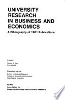 University Research in Business and Economics