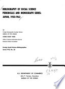 Bibliography Of Social Science Periodicals And Monograph Series