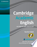 Cover of Cambridge Academic English C1 Advanced Teacher's Book