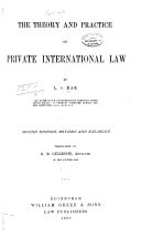 The Theory and Practice of Private International Law