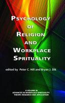 Psychology of Religion and Workplace Spirituality Pdf/ePub eBook