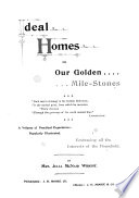 Ideal Homes  Or  Our Golden Mile stones     Book