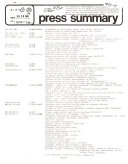 Press Summary - Illinois Information Service