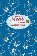 Weekly Meal Planner Notebook