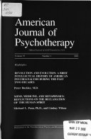 American Journal of Psychotherapy