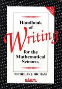 Handbook of Writing for the Mathematical Sciences Pdf/ePub eBook