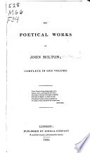 The Poetical Works of John Milton ...