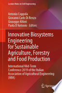 Innovative Biosystems Engineering for Sustainable Agriculture, Forestry and Food Production