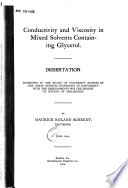 Conductivity and Viscosity in Mixed Solvents Containing Glycerol ...