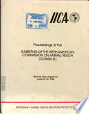 Proceedings of the Iii Meeting of the Inter american Commission on Animal Health   Coinsa Iii