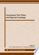 Functional Thin Films And Special Coatings Book PDF