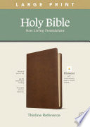 NLT Large Print Thinline Reference Bible, Filament Enabled Edition (Red Letter, Leatherlike, Rustic Brown)