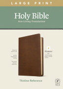 NLT Large Print Thinline Reference Bible  Filament Enabled Edition  Red Letter  Leatherlike  Rustic Brown