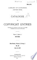 Catalogue of Copyright Entries  : Books , Volume 6,Edição 2