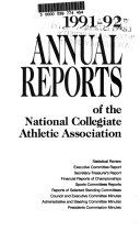 Annual Reports of the National Collegiate Athletic Association