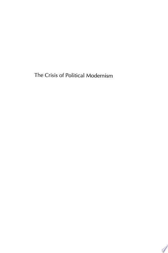 The Crisis of Political Modernism