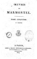 Oeuvres de Marmontel. Tome premier [-septième]