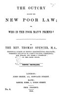 The Outcry against the New Poor Law     Seventh thousand