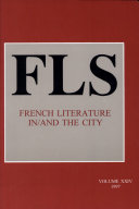 French Literature In/and the City