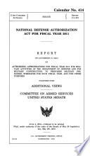 National Defense Authorization Act for Fiscal Year 2011