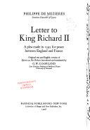 Letter to King Richard II