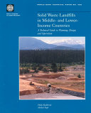 Solid Waste Landfills in Middle and Lower-income Countries