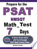 Prepare for the PSAT   NMSQT Math Test in 7 Days