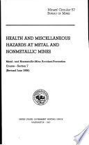 Health And Miscellaneous Hazards At Metal And Nonmetallic Mines