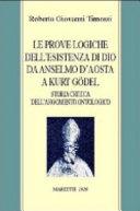 Prove logiche dell'esistenza di Dio da Anselmo d'Aosta a Kurt Gödel