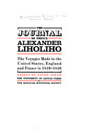 The Journal of Prince Alexander Liholiho