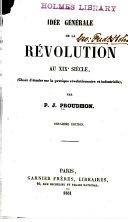 Idée générale de la revolution au XIXe siecle
