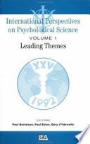 International Perspectives on Psychological Science  Leading themes Book PDF