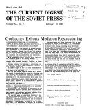 The Current Digest of the Soviet Press Book