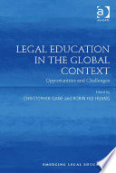 Legal Education In The Global Context