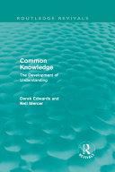 Common Knowledge  Routledge Revivals