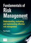 Fundamentals of Risk Management Book