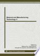 Material and Manufacturing Technology V Book