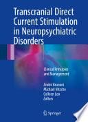 Transcranial Direct Current Stimulation in Neuropsychiatric Disorders Book
