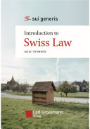 Pdf Introduction to Swiss Law