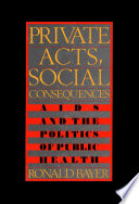 Private Acts  Social Consequences Book