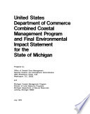 Combined Coastal Management Program and Final Environmental Impact Statement for the State of Michigan