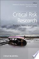 Critical Risk Research