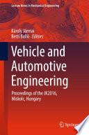 Vehicle and Automotive Engineering