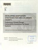 Developing Adaptation Strategies for San Luis Obispo County