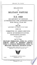Hearings  Reports and Prints of the House Committee on Armed Services