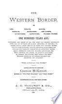 Our Western Border in Early Pioneer Days