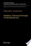 Solidarity A Structural Principle Of International Law