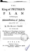 The King Of Prussia S Plan For Reforming The Administration Of Justice