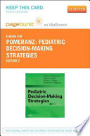 Pediatric Decision-making Strategies Pageburst E-book on Vitalsource Retail Access Card